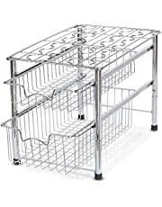 2 Tier Sliding Basket Organizer Drawer