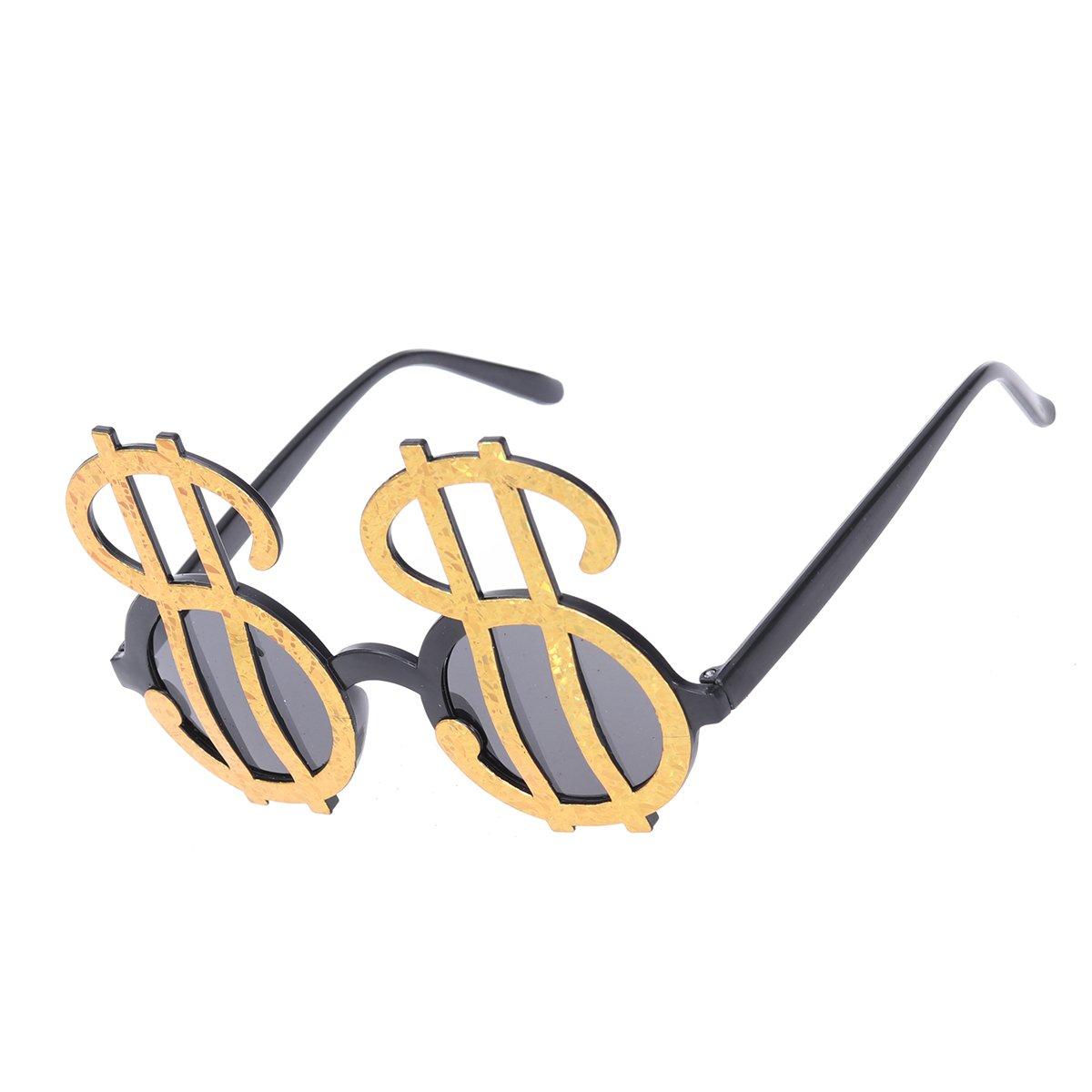 Novità Occhiali da vista Tinksky Plastic Dollar Symbol Design Occhiali da sole Party Favors Occhiali da vista Forniture per Halloween Masquerade (Golden) rY4euftn