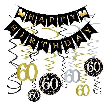 Omgouue Kit de decoración para Fiesta de 60 cumpleaños ...