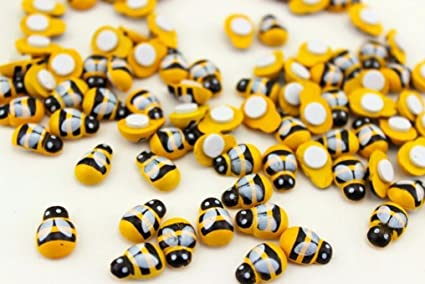 Ladybirds Ladybug Bumble Honey Bee Self Adhesive Wooden Card Craft Embellishment