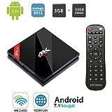 H96 Pro Plus TV Box Android 7.1 mit Amlogic S912 Octa-Core 64 Bits CPU 3GB RAM 32GB ROM TV Box mit 4k Ultra HD H.265 Ethernet 100M / 1000M 2.4GHz / 5GHz Dual WiFi Bluetooth 4.1