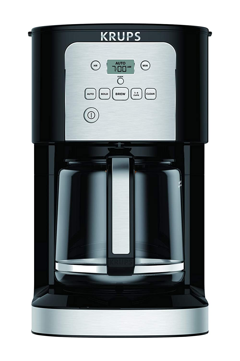 KRUPS EC321050 Thermobrew Programmable Coffee Maker, 12-Cup, Black