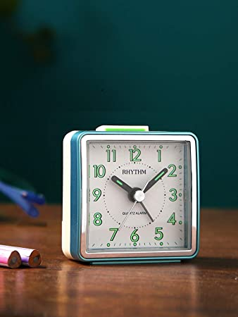 Rhythm(Japan) Green Plastic Imported Value Added Bell Alarm Clock Alarm Clocks at amazon