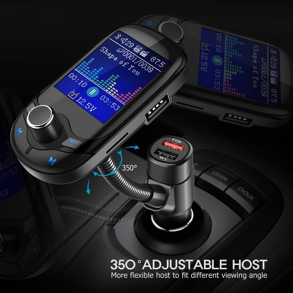 Wireless In-Car Bluetooth Radio Adapter Nulaxy FM Transmitter KM19