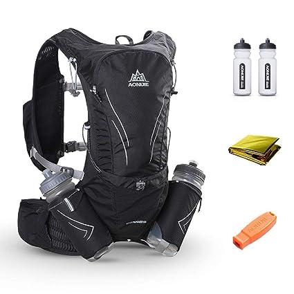 12b7053013ca 15L Ultra Lightweight Running Vest Marathon Backpack Hydration Pack With 2  Pcs 600 ML Water Bottle