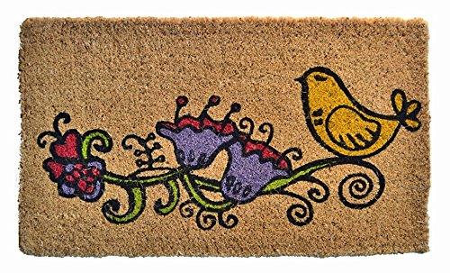 Door Mats - Bird & Flower Coir Door Mat - Doormat - 18