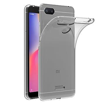 iVoler Funda Carcasa Gel Transparente para Xiaomi Redmi 6A, Ultra Fina 0,33mm, Silicona TPU de Alta Resistencia y Flexibilidad
