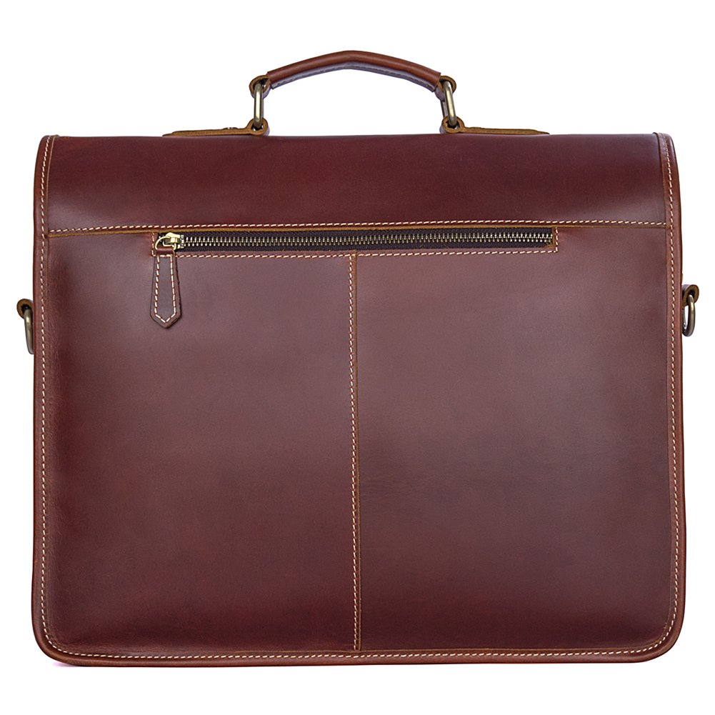 Genda 2Archer Men Genuine Leather Briefcase 15-inch Laptop Tote Bag by Genda 2Archer (Image #2)