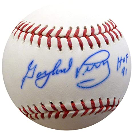 0a817e04fe8 Gaylord Perry Autographed Signed MLB Baseball Giants quot HOF 91 quot    W75477 - PSA