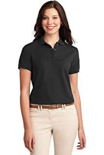 M Port Authority Ladies Silk Touch Sport Shirt Lime
