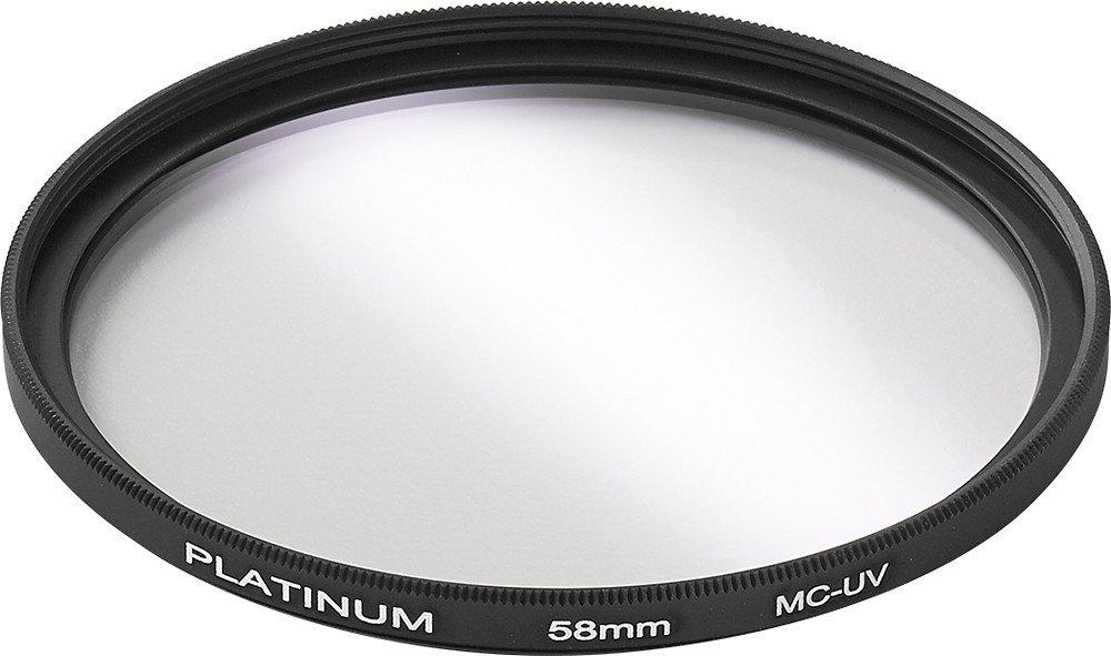 Filtro de lente UV de 58 mm de la serie Platinum.