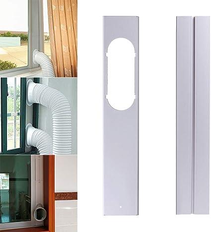 Herewegoo - Conector ajustable de tubo de evacuación a ventana para aire acondicionado portátil, 2 PC: Amazon.es: Hogar