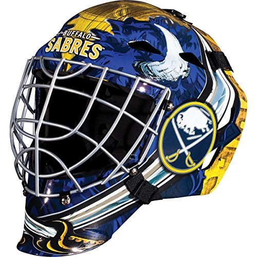 Helmet Buffalo (Franklin Sports Buffalo Sabres Goalie Mask - Team Graphic Goalie Face Mask - GFM1500 Only for Ball & Street - NHL Official Licensed Product)