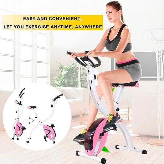 CCTO US Shipping Folding Exercise Bike,Indoor Cycling Foldable Magnetic Erection Bike Stationary Bike