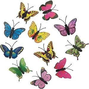 EnewLife 10 Pcs Creative Decorative Cute Butterfly Thumb Tacks ThumbNails PushPins Push Pins Soft Flat for Photos Wall, Maps, Bulletin Board or Corkboards(Random Pattern)