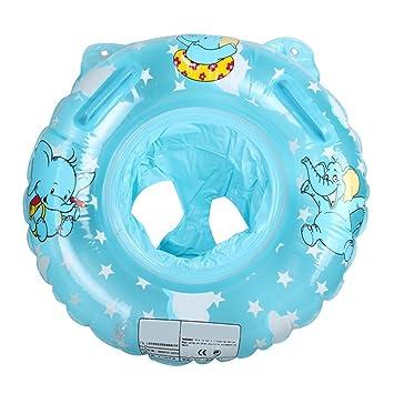 Angelbubbles Flotador para Bebé Anillo de la Nadada del bebé Infante Flotador de aprendizaje de Natación para Niños Inflable Flotador Piscina Bano (Azul): ...