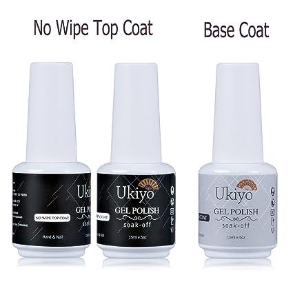 Gel de uñas de gel base y capa superior con no limpiador Top Coat Esmalte de