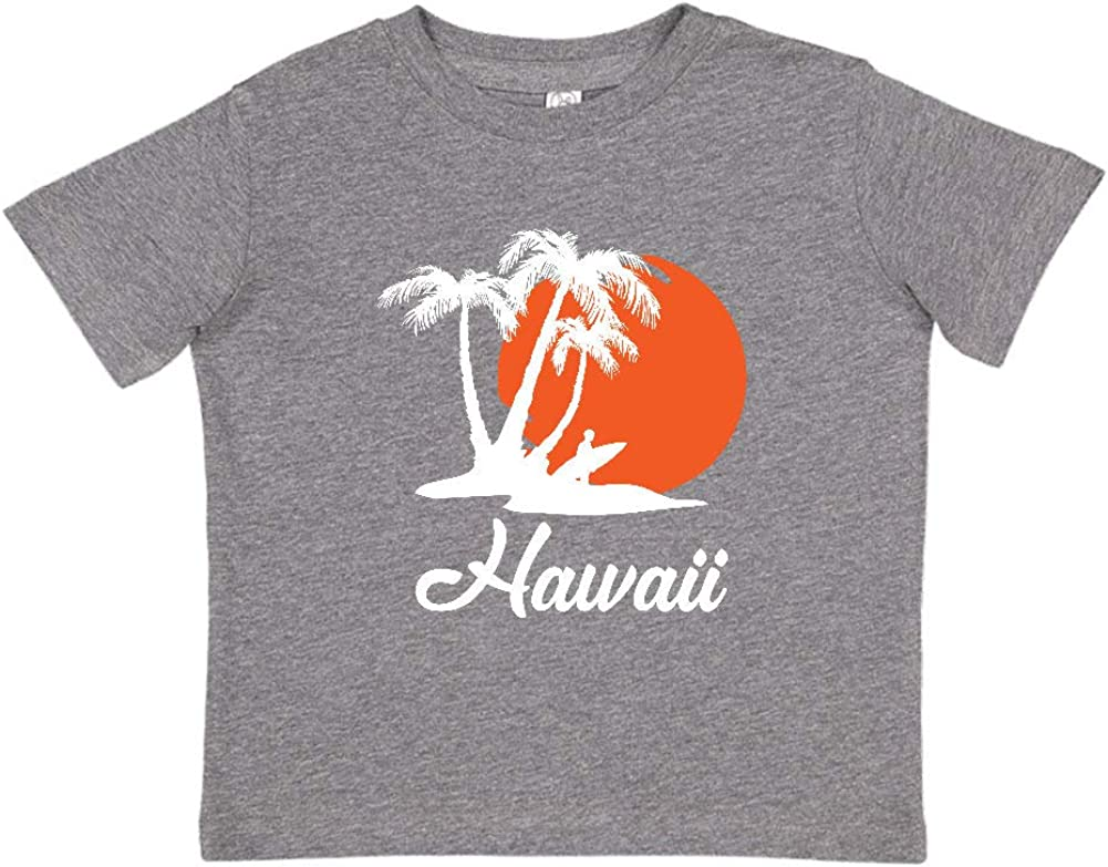 Hawaii Beach Sunset Surfer Toddler//Kids Short Sleeve T-Shirt