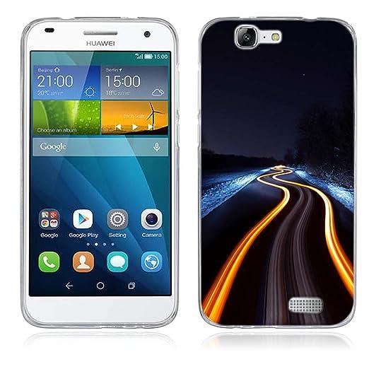 2 opinioni per Huawei Ascend G7 Cover, Fubaoda Alta qualità Bello e romantico paesaggio Serie