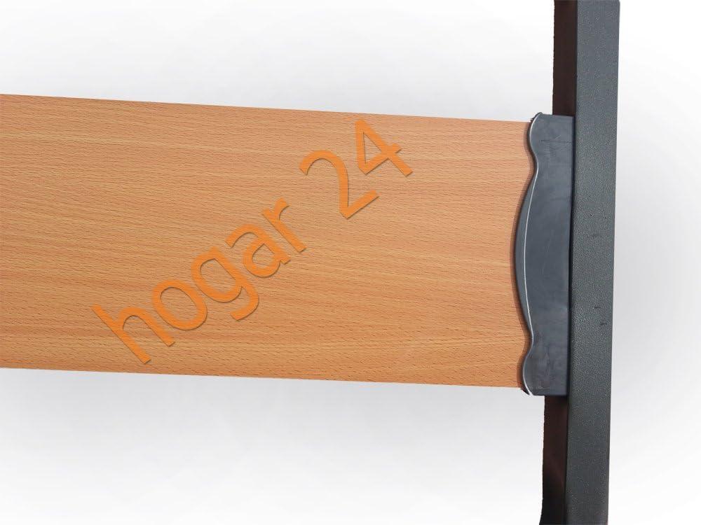 HOGAR24 Somier Somieres Lama Ancha Reforzada con Tacos Anti-Ruido. Sin patas-90x200cm