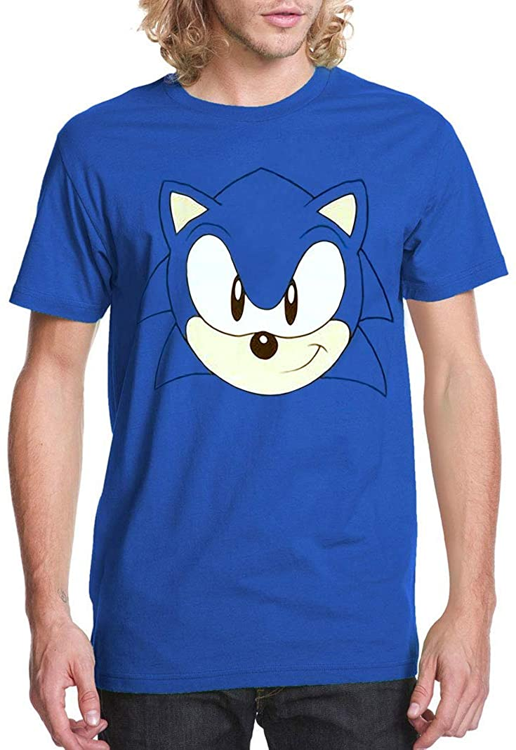 Amazon Com Sonic The Hedgehog Face Costume T Shirt Clothing
