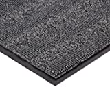 Notrax Vinyl 139 Boulevard Entrance Mat, for Upscale Entrances, 3' Width x 5' Length x 3/8'' Thickness, Charcoal