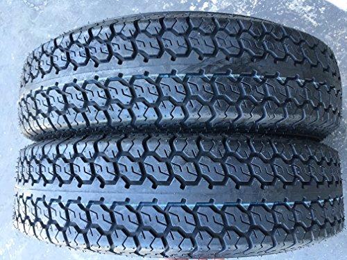 2-Pack Bias Trailer Tires 175/80D13 Tire Load Range 6PLY Bias Trailer