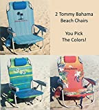 2 Tommy Bahama 2016 Backpack Cooler Chair with Storage...