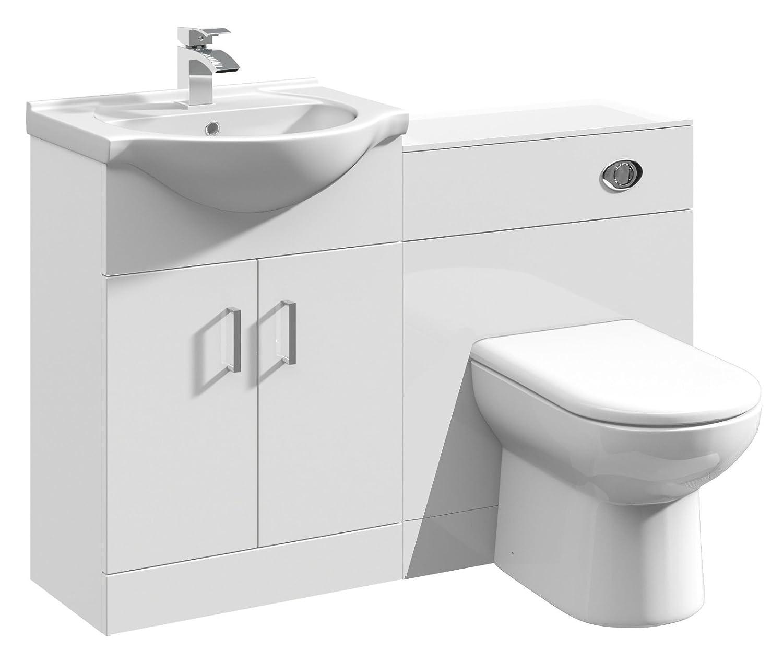 Home Standard Floe 1150mm Vanity Unit Bathroom Suite | Ceramic Basin ...