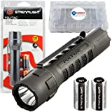 Streamlight PolyTac Tactical EDC Flashlight 275 Lumens Bundle with 2 Extra CR123A batteries and a Lightjunction Battery Case