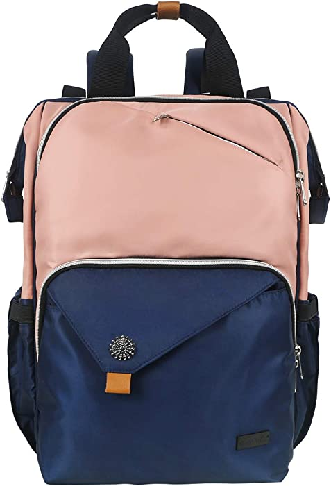 Hap Tim Laptop Backpack, Travel Backpack for Women, Pink Work Backpack (7651-BP)