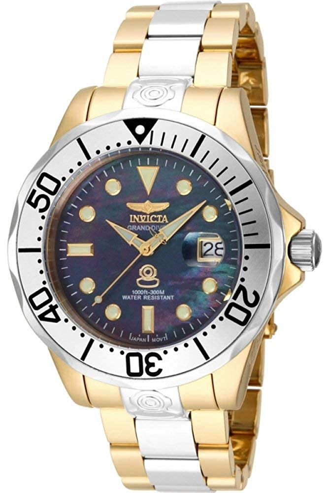 Invicta Men s Pro Analog Display Diver Automatic-self-Wind Diving Watch with Stainless-Steel Strap