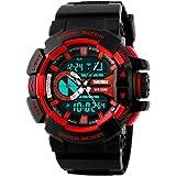 Skmei Analog-Digital Black Dial Men's Watch - 1117-Red