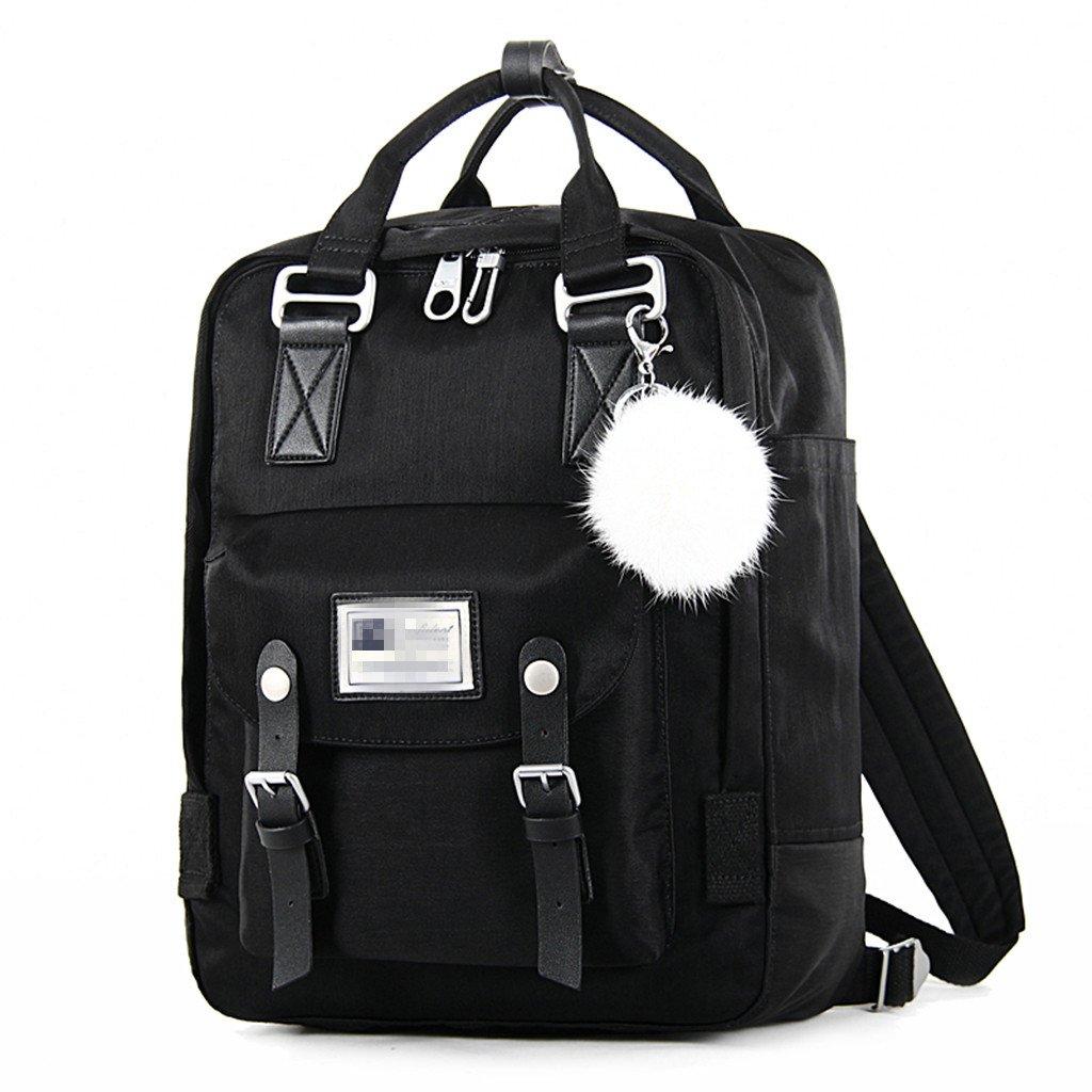 COZY HOME AAA バックパック 男女兼用 バッグ 学生用バッグ レジャー ショッピングトラベルバッグ ダークブルー ブラック B07FXCZCKG ブラック