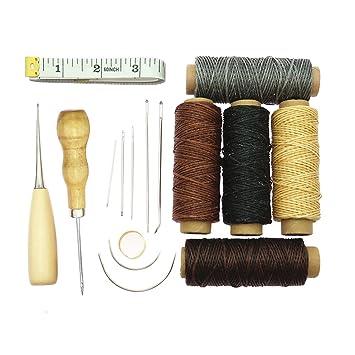 Homyl Kit de 16x Equipo de Hilo Pin DIY Punzón Dedal Multicolor Lana Fijación Costura Reparación Uso Diario Adultos Principiantes: Amazon.es: Hogar