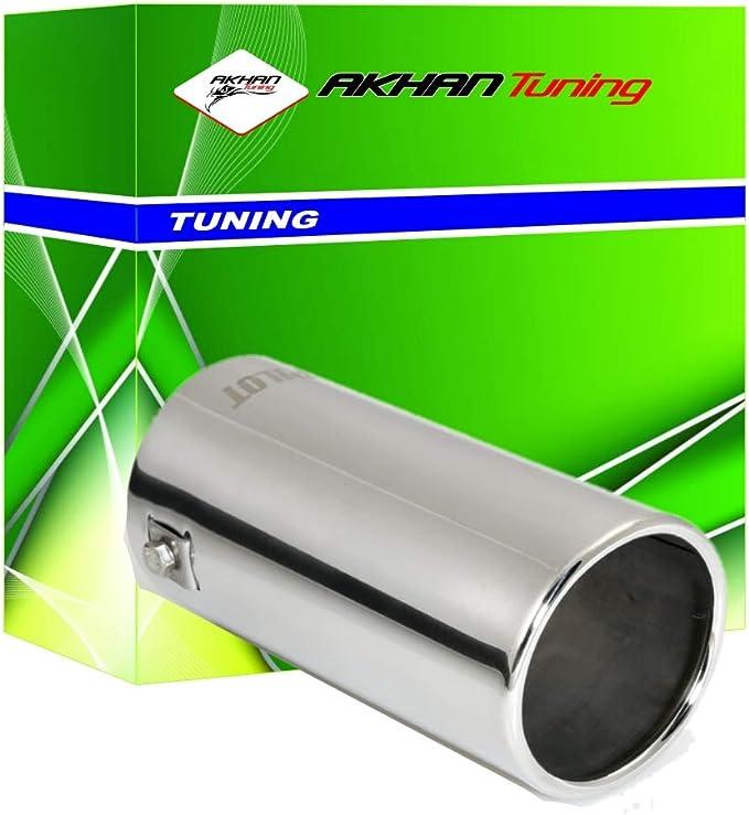 ER054 - Acero inoxidable de tubo de escape del tubo de escape de para atornillar Embellecedor de tubos de escape universales