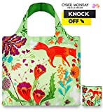 #7: LOQI™ Reusable Grocery Foldable Bags ✔ ECO Shopping HandBags ✔ Tote Bags ✔ Shoulder Bags with Zipper Pouch ✔ Polyester ✔ Forest Fox