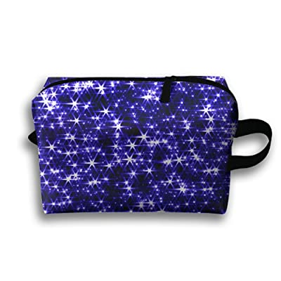 GNMB Purple Shiny Portable Travel Home Lingerie Bra Cosmetic Make-up Storage Bag Handbag