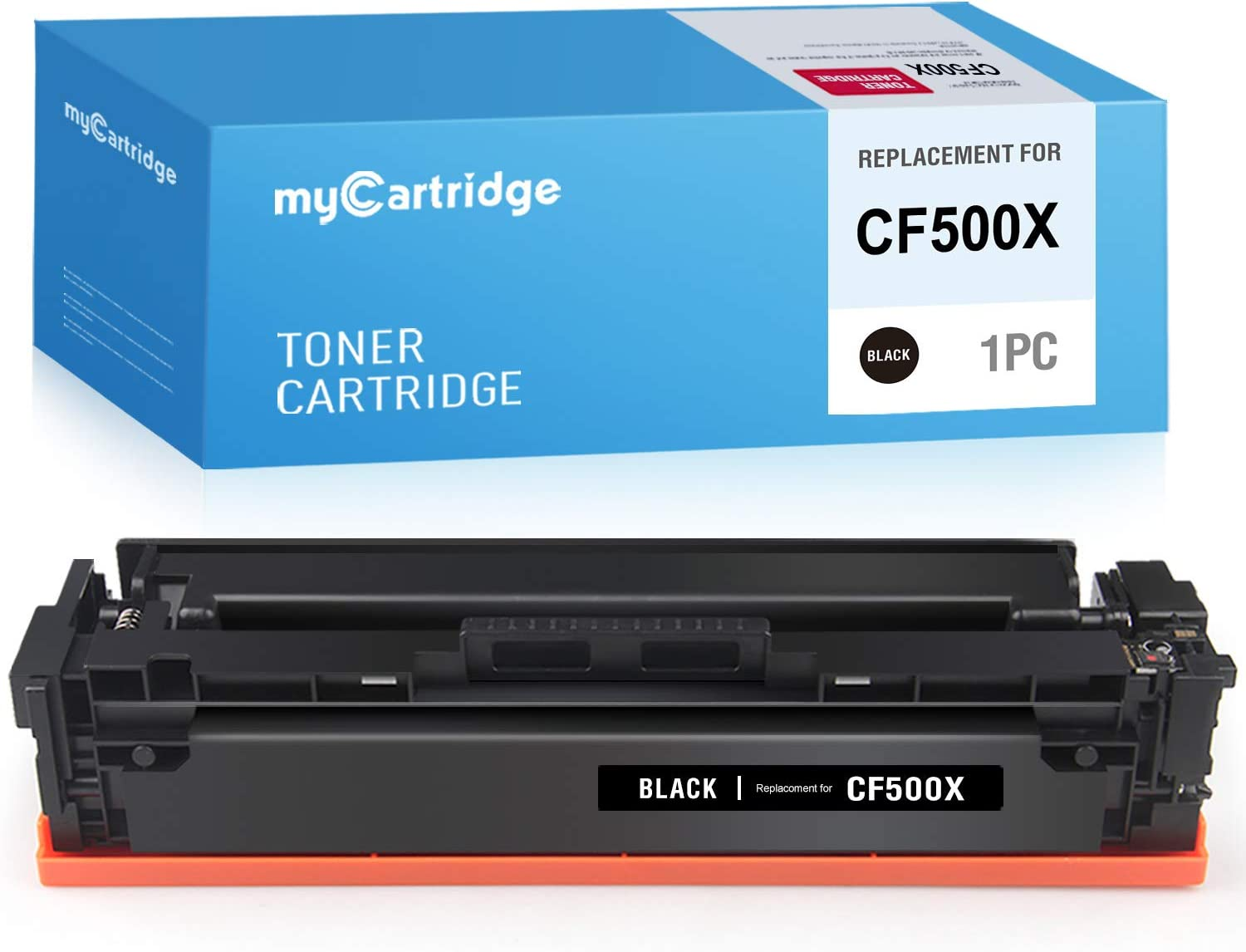 myCartridge Compatible Toner Cartridge Replacement for HP 202X 202A CF500X CF500A (Black, 1-Pack)