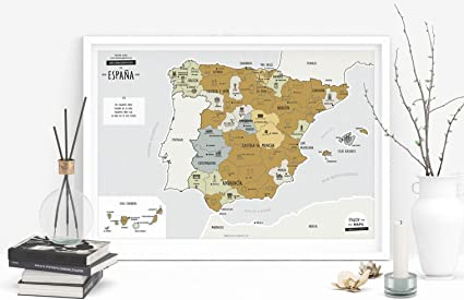 Enjoy Maps Discover Mapa Diseñada con Tinta Rascable, Papel estucado, Multicolor, 65 x 45 cm: Amazon.es: Hogar