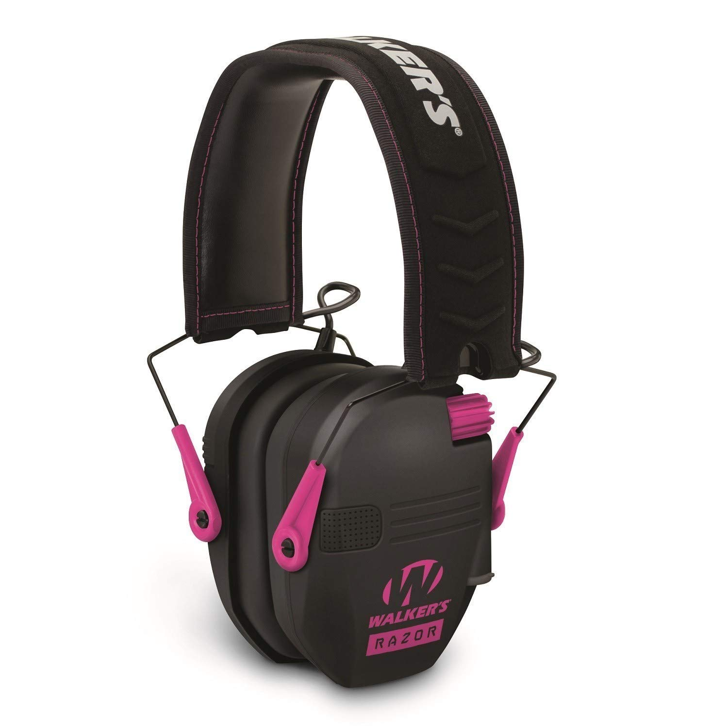 Walkers Razor Slim Electronic Shooting Hearing Protection Muff (Sound Amplification and Suppression) with Protective Case, Black/Pink by Walkers (Image #3)