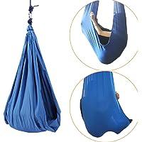 Sensory Swing Therapy Swing Cuddle Hammock Indoor Snuggle Swing Set, 80kg Load Capacity (Blue)