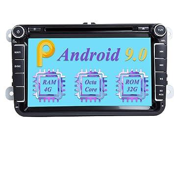 Dimost Android 9.0 Autoradio 8 Pulgadas 8-Core 4GB RAM 32GB ...