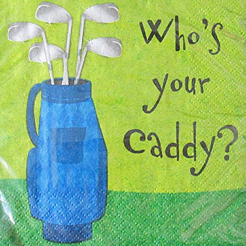 Golf 'Who's Your Caddy' Small Napkins (16ct)