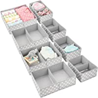 mDesign Soft Fabric Dresser Drawer and Closet Storage Organizer Set for Child/Kids Room, Nursery, Playroom, Bedroom…