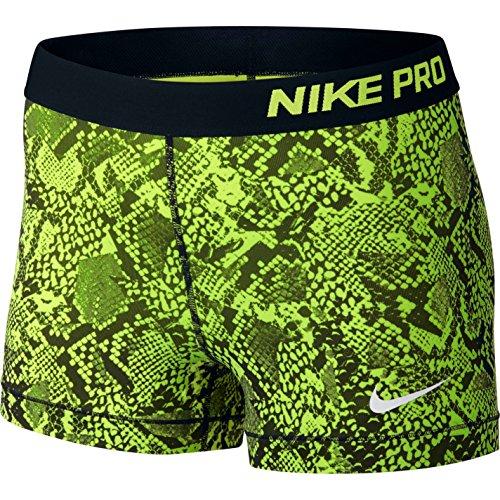 "Nike Women's Pro Cool 3"" Compression Shorts (X-Small, Volt/Black)"