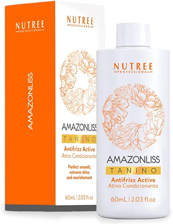 Tratamiento brasileño para alisar el cabello - Amazonliss Tanino - Efecto suavizante, hidratante, reparador, de brillo extremo - Sin formaldehído, sin ...
