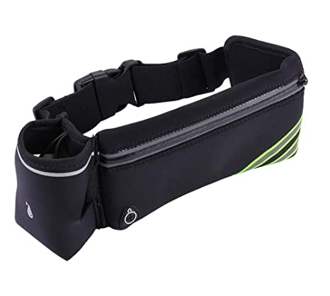 Hiking and Other Exercise with Headphone Hole Walking Cycling LY4U Adjustable Running Belt with One 10oz Water Bottle ideal for Fitness Running Jogging Training