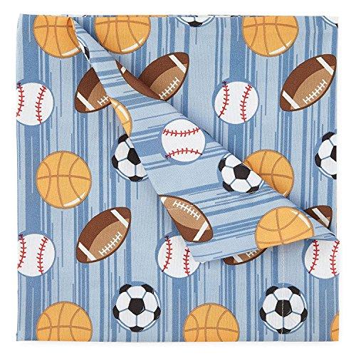 (Kute Kids Super Soft Sheet Set - Athletes Stripe - Brushed Microfiber for extra comfort … (Twin))