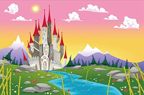 BuEnn 7x5ft Dibujos Animados Castillo Medieval Fondo ...